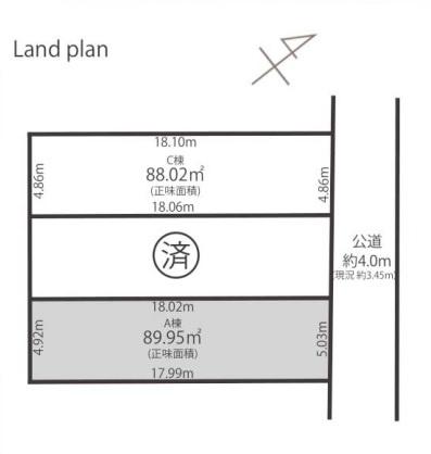 【区画図】ワンランク上のデザインハウス 中落合3丁目新築戸建