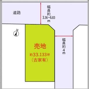 【区画図】小田急線 狛江駅 建築条件なし売地