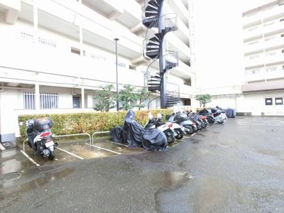 バイク置場です。