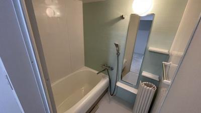 綺麗なミントグリーンが嬉しい浴室です。