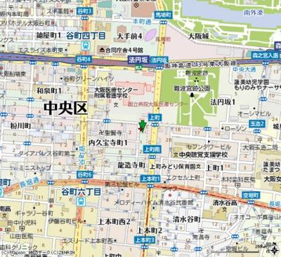 【地図】サムティ上町台龍造寺(旧アルカサル龍造寺)