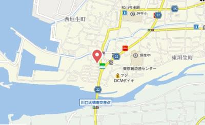 【地図】エール西垣生