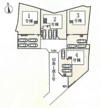 4号棟 カースペース3台以上可能です。