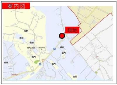 【地図】山武市横田 非線引区域 売倉庫
