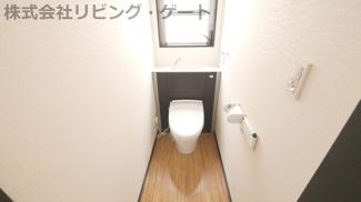 2階の温水洗浄便座付きのトイレです。