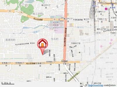 【地図】カルフール空港通