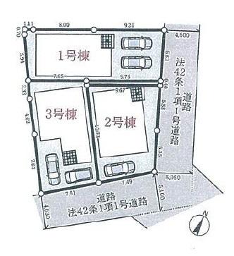 【区画図】明石市和坂2丁目 第3期 1号棟