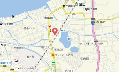 【地図】シャーメゾン堀江