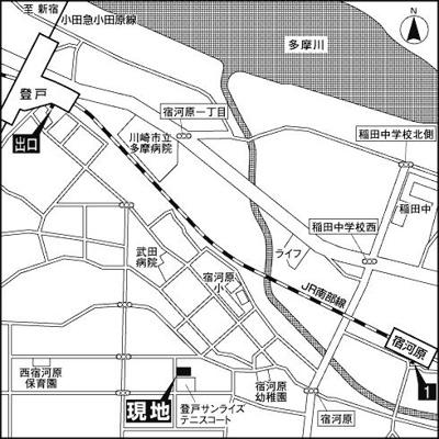 【地図】フェリーチェ登戸