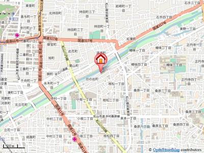 【地図】カサグランデリバーサイドⅠ・
