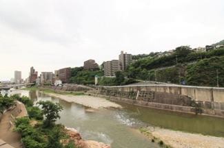 バルコニーからの眺望です♪武庫川のせせらぎ・緑豊かな自然を感じられるマンションです(^^)