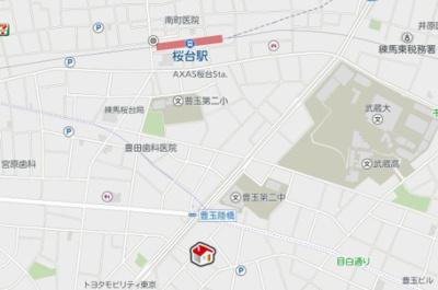 【地図】レオパレスカーサ グリチーネ(40023-103)
