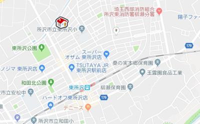 【地図】レオネクスト八重(53580-106)