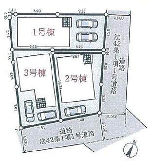 【区画図】明石市和坂2丁目 新築戸建