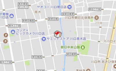 【地図】CARARU青木(57116-304)