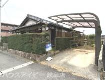 岐阜市下鵜飼 平屋の中古住宅 敷地面積75坪!南側に広い縁側あります。お庭もあります。お車3台可能!の画像
