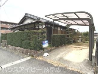 岐阜市下鵜飼 平屋の中古住宅 敷地面積75坪!南側に広い縁側あります。お庭もあります。お車3台可能!