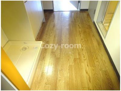 奥の洋室と少し床の色合いが異なります。