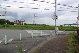 千葉県富津市大堀 土地 青堀駅 南西側から北東側へ