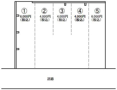 【区画図】車尾1丁目駐車場