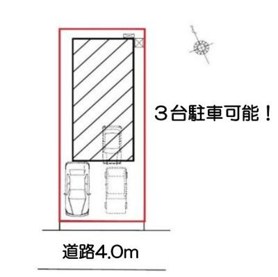 【区画図】岡崎市中町7丁目 新築一戸建て FF