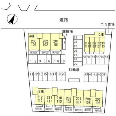 【区画図】プレミールコートB棟