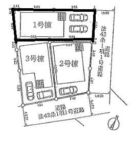 【区画図】明石市和坂2丁目新築一戸建て