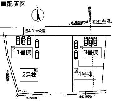 【区画図】高崎市石原町 1号棟
