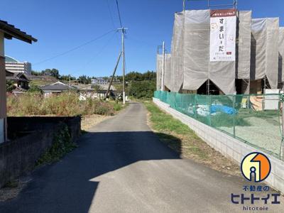 【前面道路含む現地写真】八女市宅間田新築建売住宅