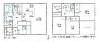 建物面積105.29平米・テレワークルーム付の4LDK