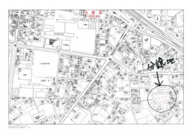 【地図】宮崎市田野町甲 小学校に近い分譲地①