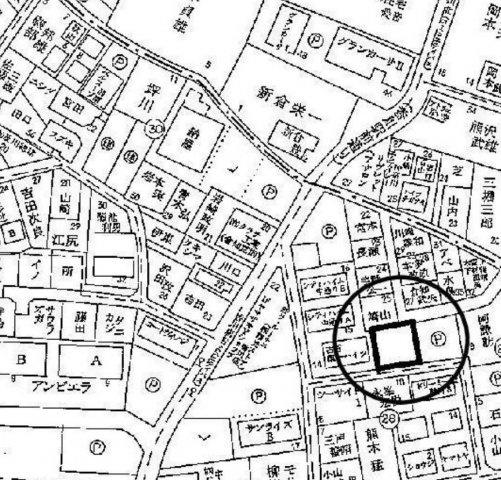 【地図】建築条件付き売地(整形地)