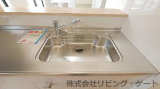 浄水器一体型水栓付きのシンク