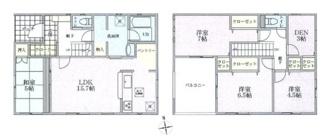100.44平米 小部屋付きの4LDK 大型インナーバルコニー
