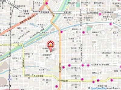 【地図】ヤマノリハイツ・