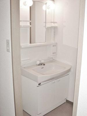 ファミリータイプには必ず欲しい独立洗面台付きで朝の準備もらくらく♪お化粧するときに大活躍ですね!※参考写真※