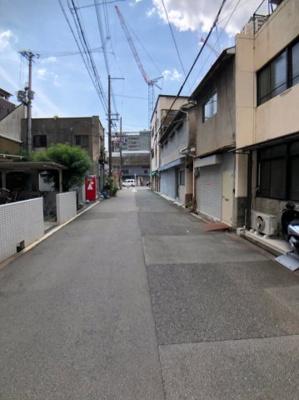 【前面道路含む現地写真】大阪市浪速区日本橋西1丁目 新築戸建