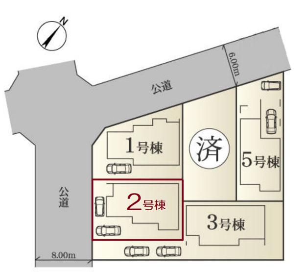 【区画図】新築 藤沢市石川5丁目 2号棟