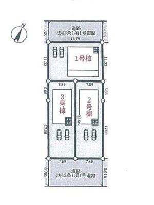 【区画図】小野市大島町 第1 3号棟