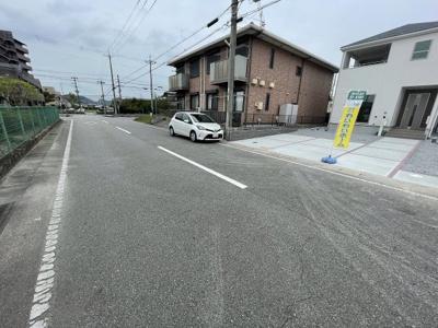 【前面道路含む現地写真】小野市大島町 第1 3号棟