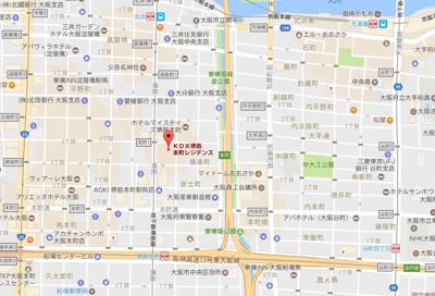 【地図】KDX堺筋本町レジデンス