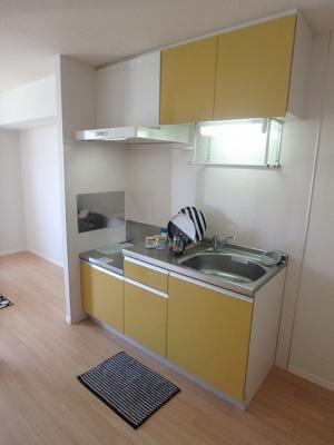 ガスコンロ設置可能♪場所を取るお鍋やお皿もたっぷり収納できてお料理がはかどります!