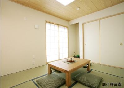 同仕様建物の和室。カラーは異なることがございます。