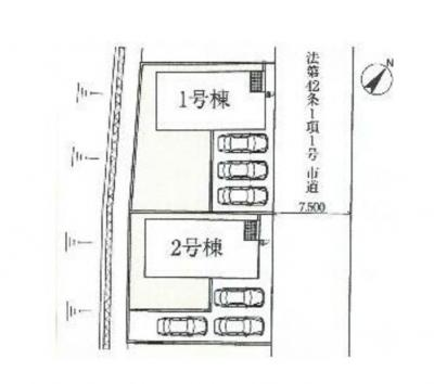 【区画図】【相生小学校】桐生市相生町2丁目【新築戸建】