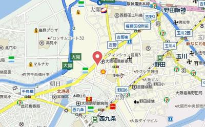 【地図】ファーストフィオーレ福島野田Ⅱ