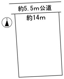 【区画図】56530 岐阜市細畑華南土地