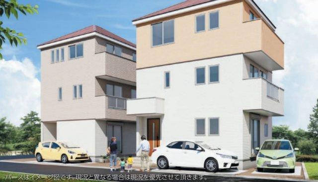【外観パース】新築 藤沢市辻堂西海岸1期 1号棟