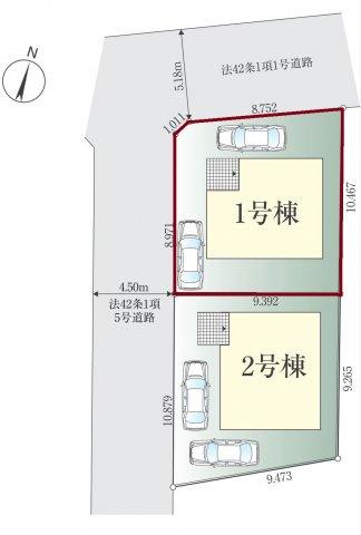 【区画図】新築 藤沢市辻堂西海岸1期 1号棟