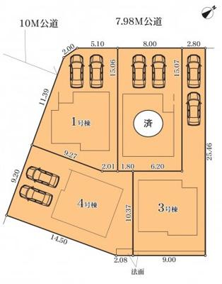 【外観】天白区高坂町第2期 3号棟〈仲介手数料無料〉高坂小・久方中 新築一戸建て