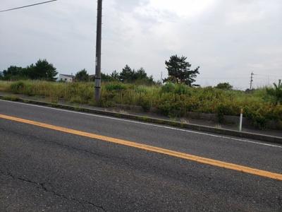 【前面道路含む現地写真】東伯郡湯梨浜町土地